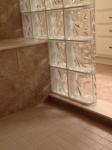 Minimize pitch of bench seat for consistent grout joints