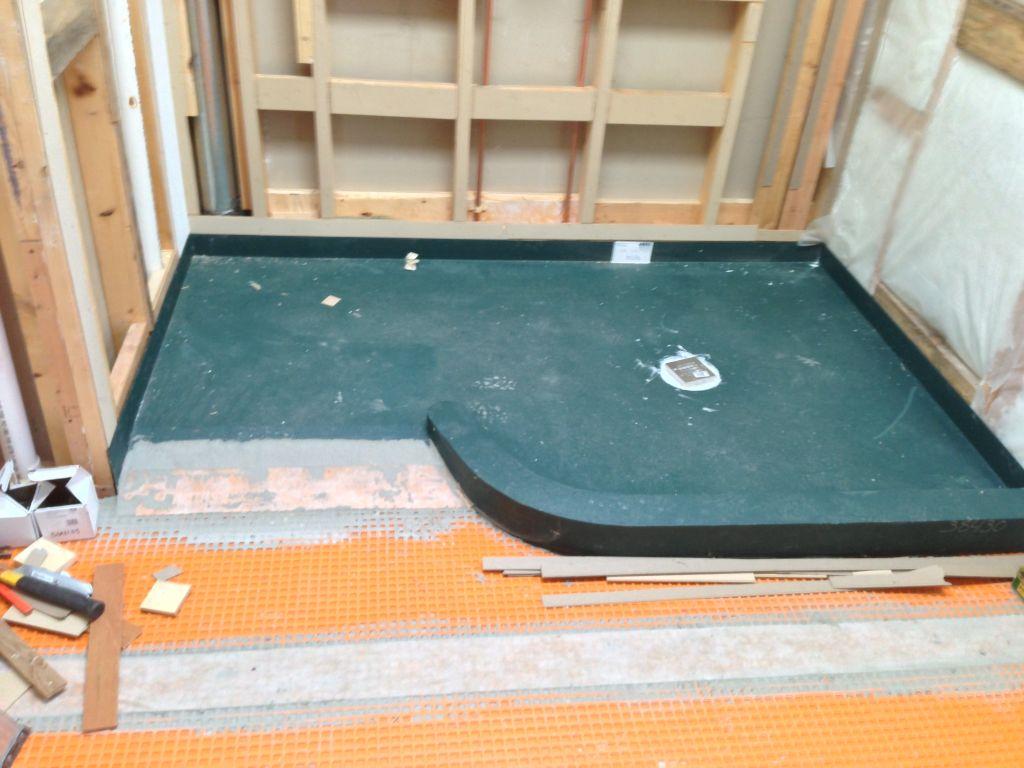 Presloped Ready For Tile Shower Base Made Of Expanded Polystyrene