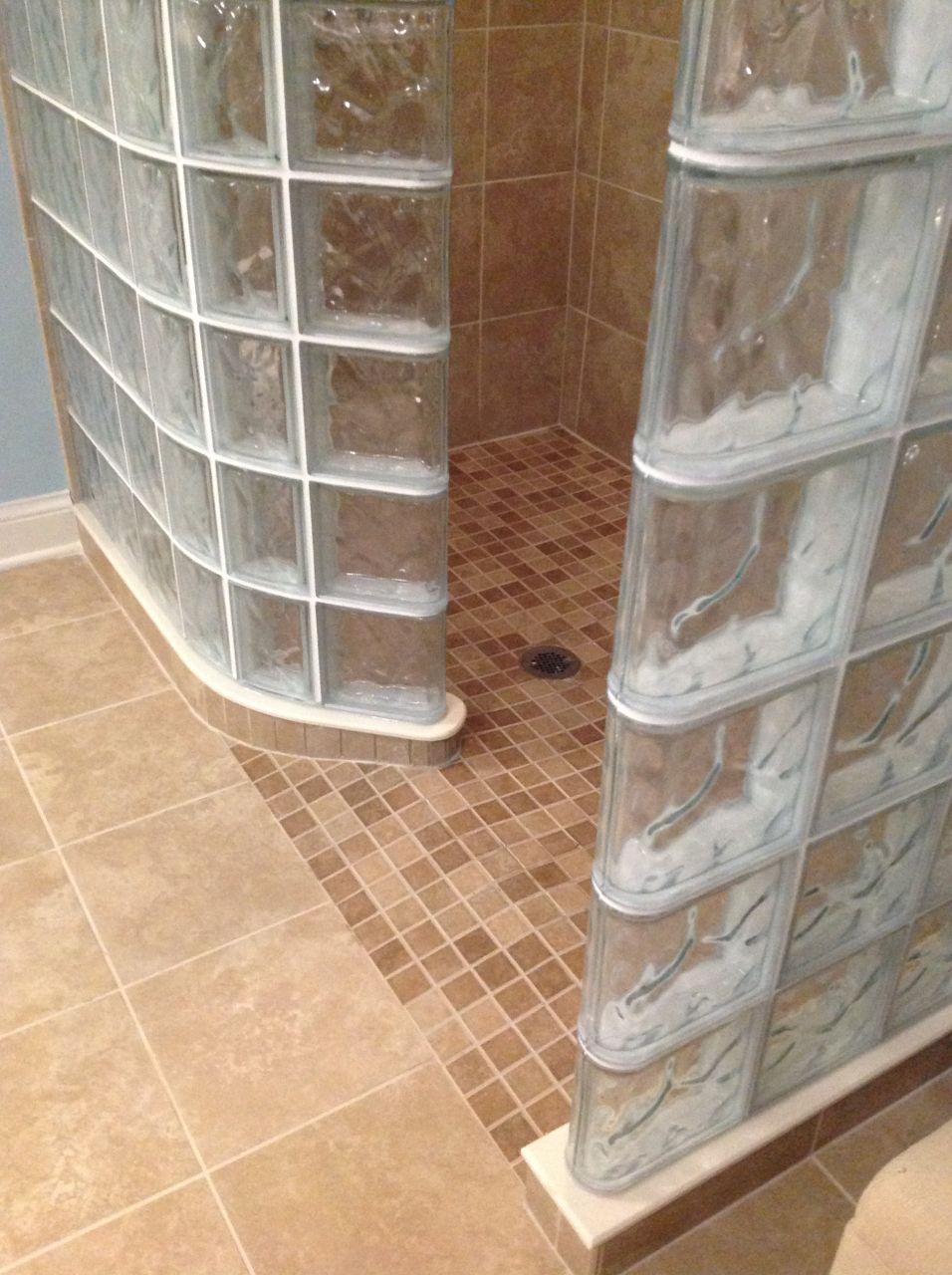 Ready For Tile Shower Base For A Glass Block Shower Columbus