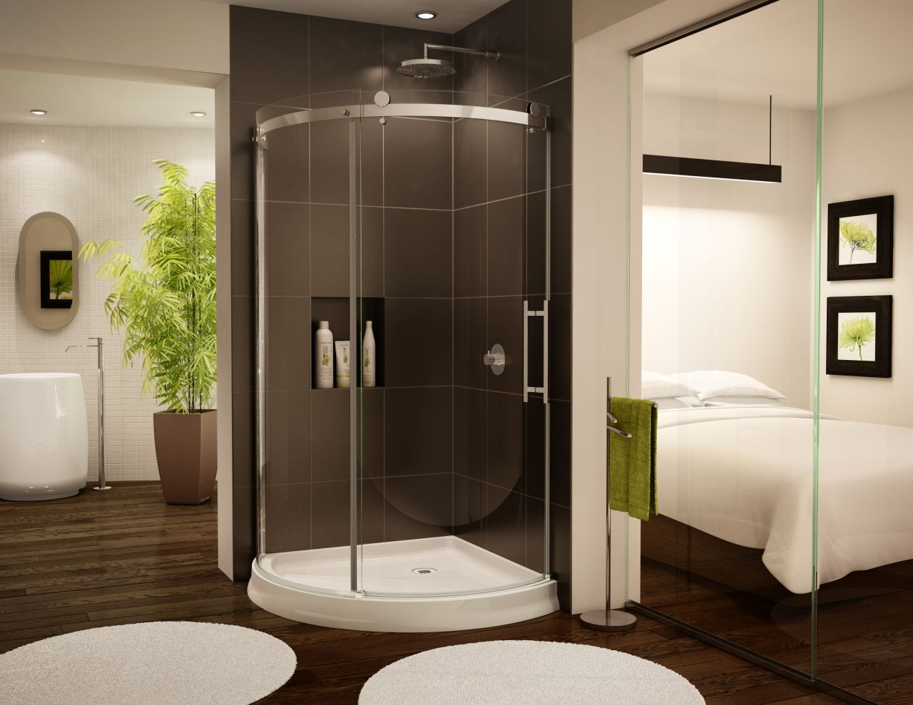 Bathroom modern bathroom tile designs with glass shelves options in - Acrylic Shower Base Innovate Building Solutions Blog