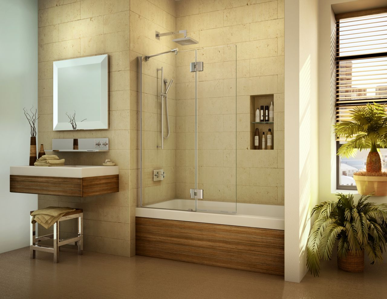 A Bathtub Screen To Open Up A Tub Space And Add A Luxury Look