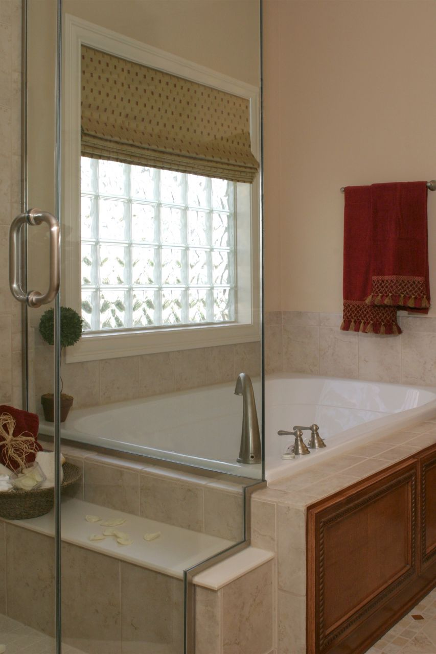 vinyl framed glass block window for bathrooms  kitchens