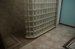 Curved Arque Glass Block provide a tight radius for this shower