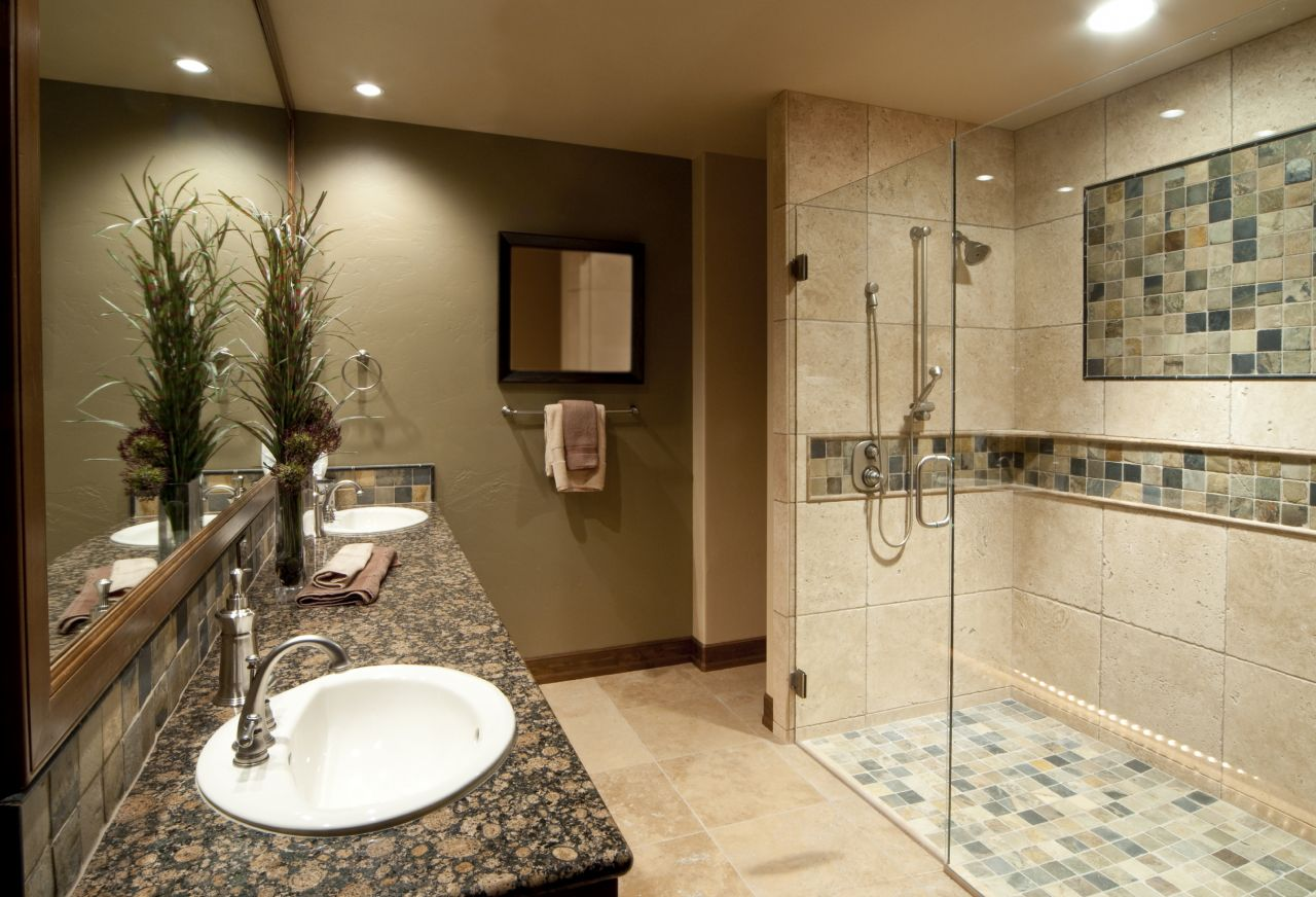 Bathroom remodel with an earth tone color scheme & 2014 Bathroom trends and remodeling ideas Cleveland Columbus ...