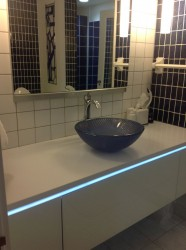 Robern wall mounted cabinets with Lighting and mirrors
