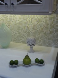 Kitchen cabinetry with LED lighting