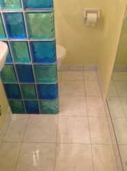 Larger tiles create the illusion of more space