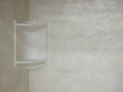 Acrylic wall panels can create the look of stone or tile