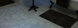 Carrara hexagon floor tiles