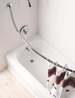 Curved Shower Rods Provide More Space