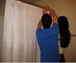DIY shower curtain installations are easy