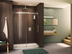 Curved shower door system - Fleurco base