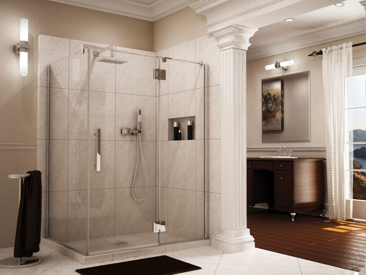 7 reasons to choose a shower door over a shower curtain for 1 2 frameless glass shower door