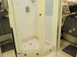 Old shower was cramped and did not provide a modern style
