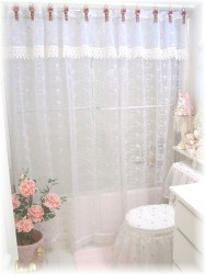 Victorian shower curtains or just one of many designs possible