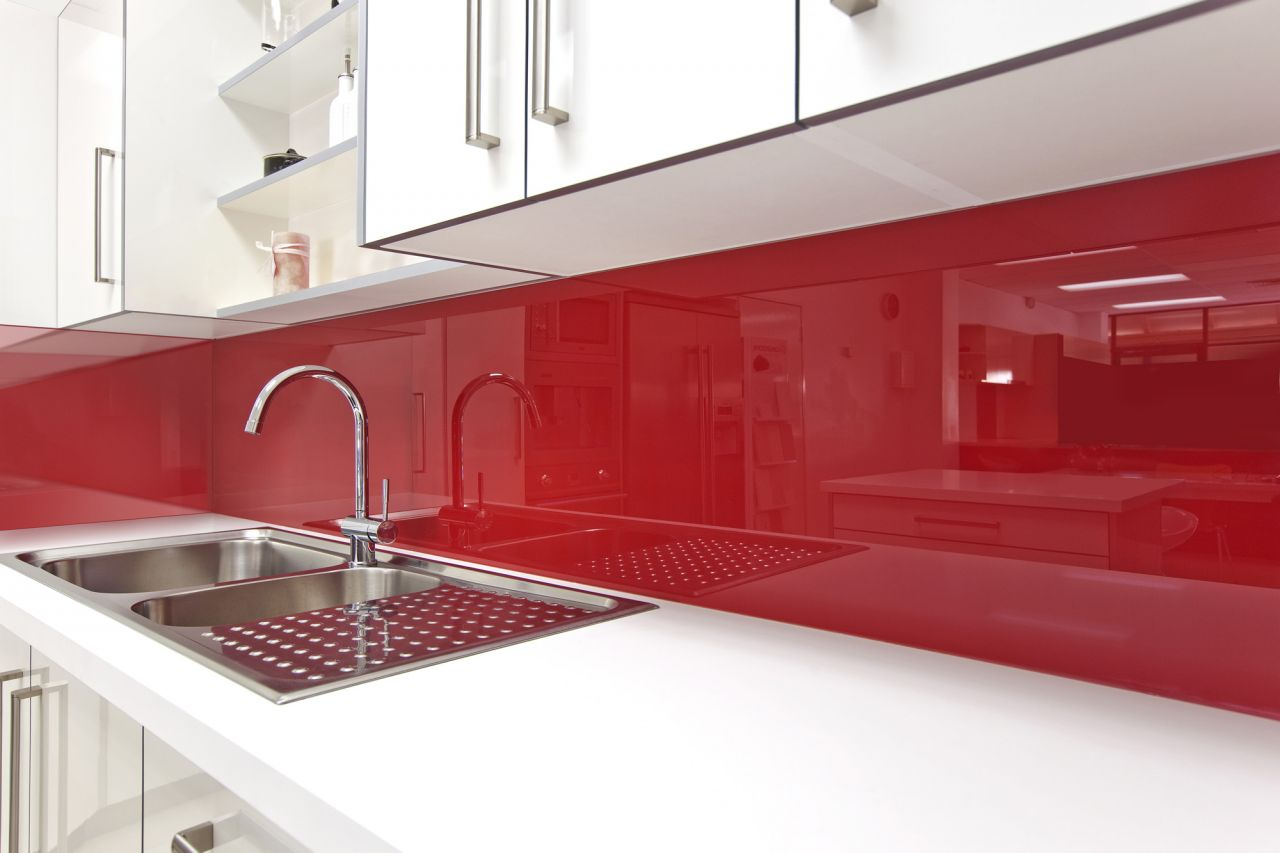 Resin Panels For Kitchen : High gloss acrylic walls surrounds for backsplashes tub