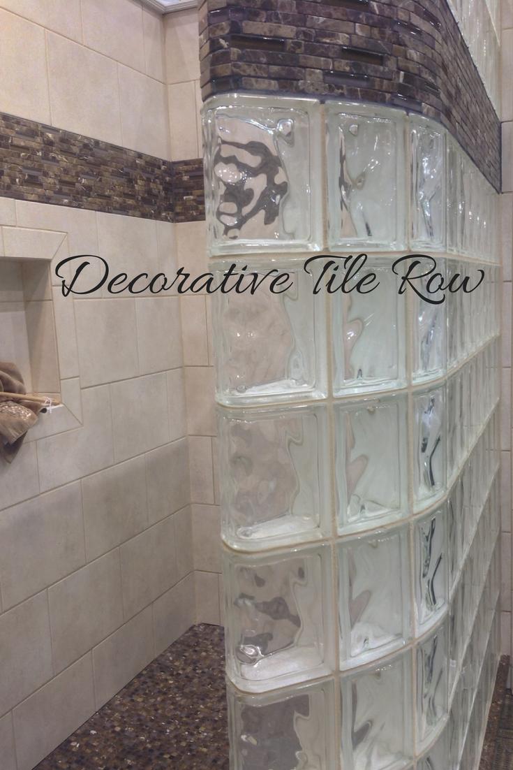 Glass Block Shower Ideas Color Decorative Tile Border