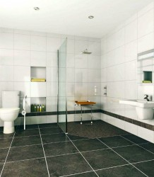Contemporary wet room using a base former