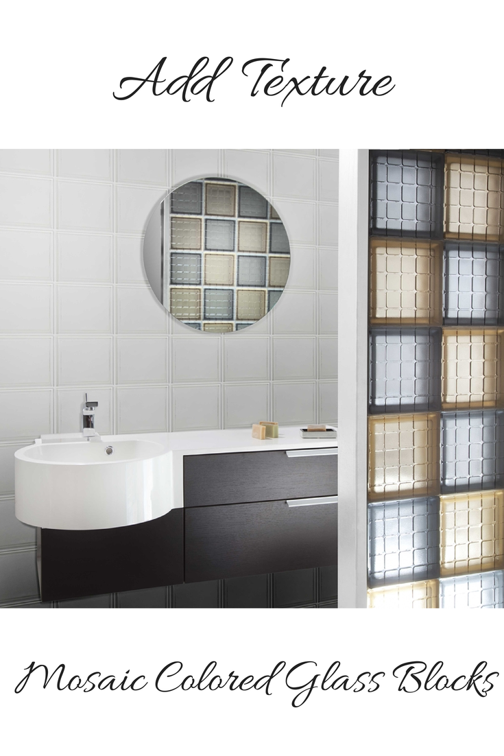 Glass block shower ideas, color, decorative tile border