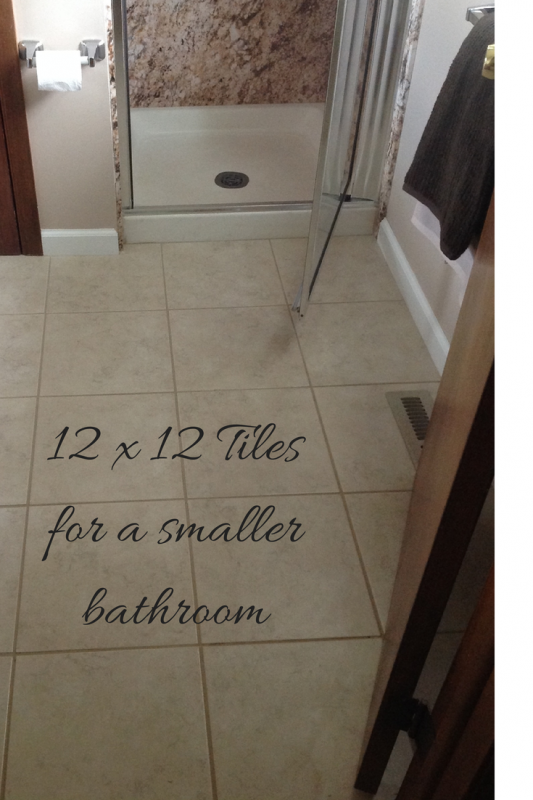 12 x 12 tiles visually open up this master bathroom