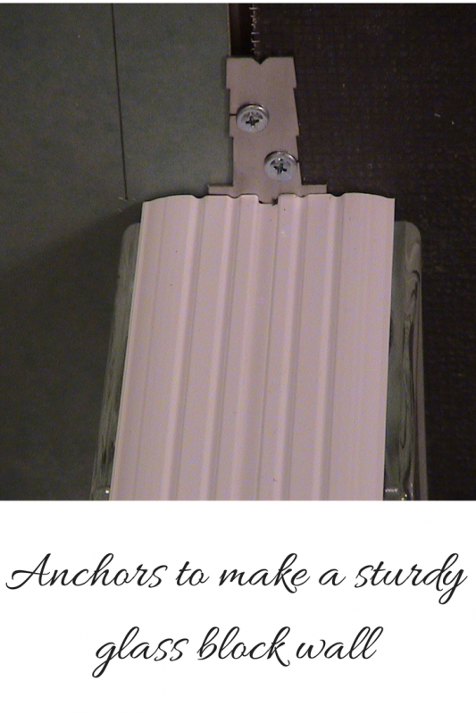 Anchors for a sturdy glass block wall