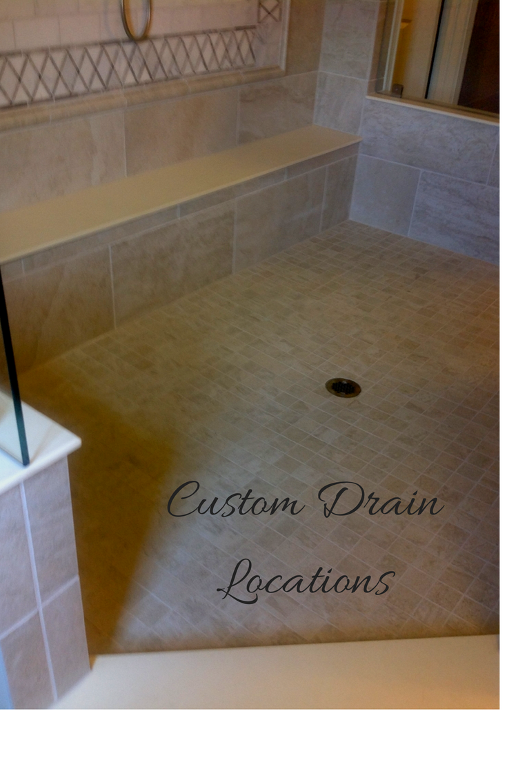 3 Shower Base Options when you don't want to change your drain location