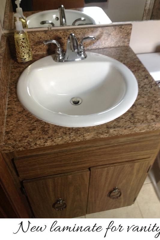 New laminate top and backsplash