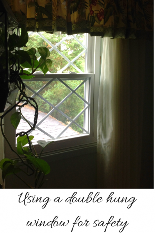 Using a double hung window can add safety when cleaning