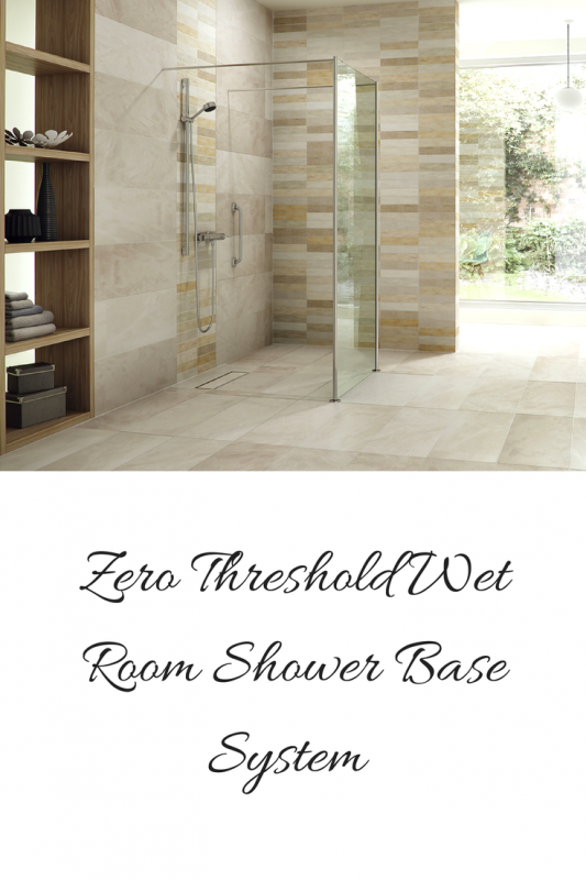 Zero Threshold Wet Room Shower Base