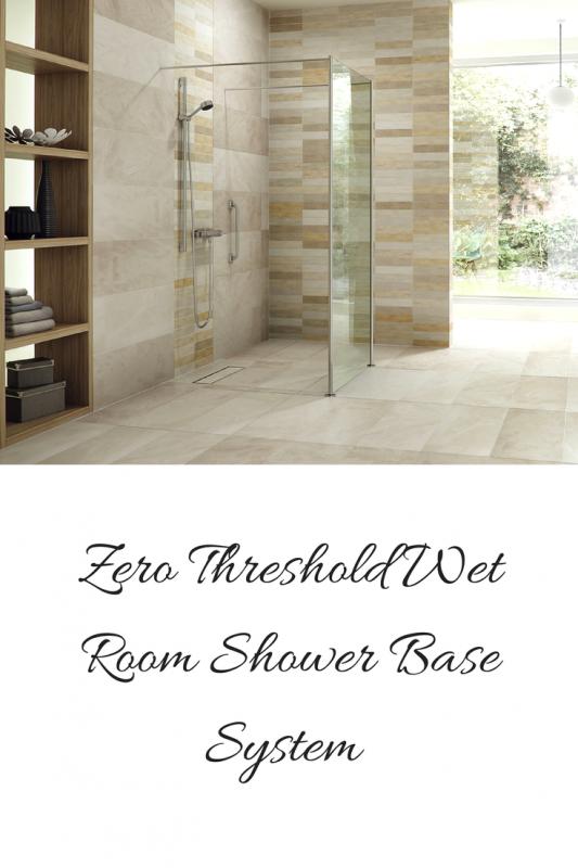 Zero Threshold Wet Room Shower Base