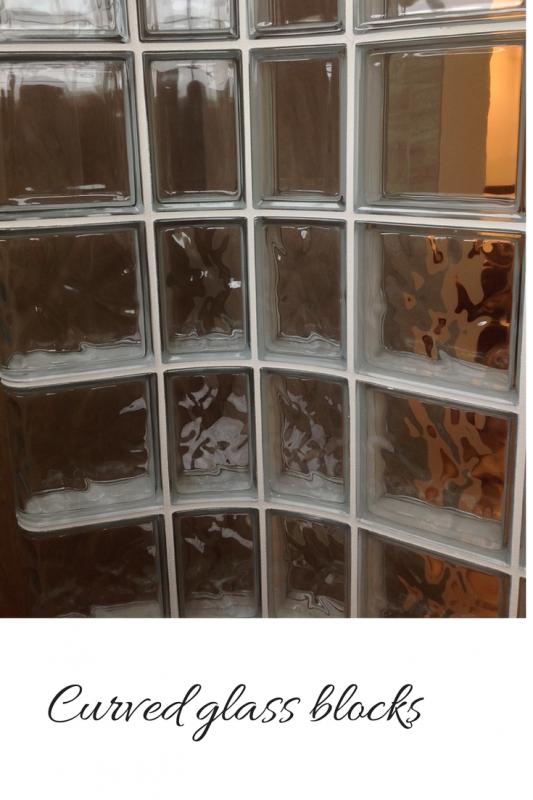 Radial curved glass blocks