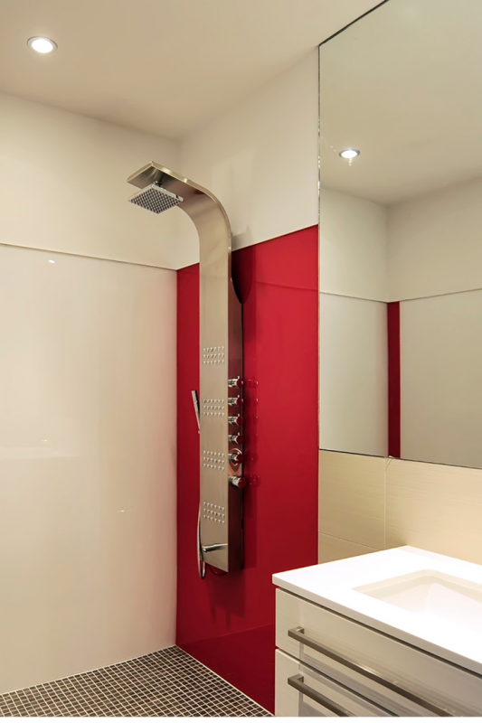 Red rouge high gloss shower wall panels