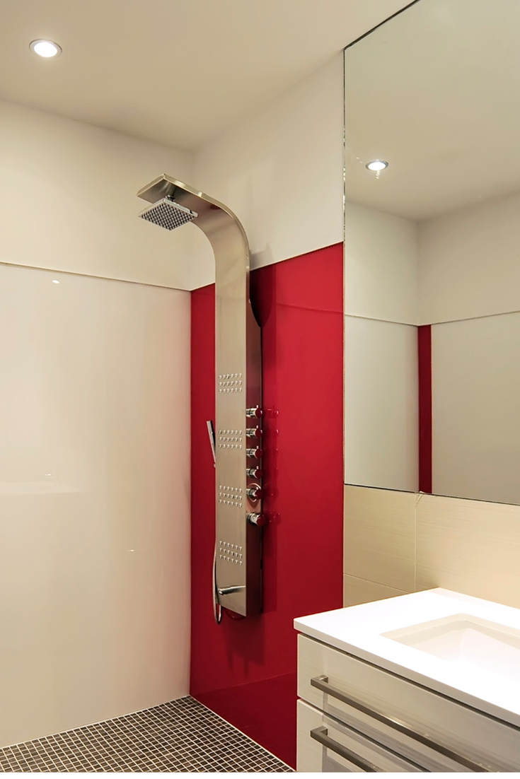 Red Rouge High Gloss Shower