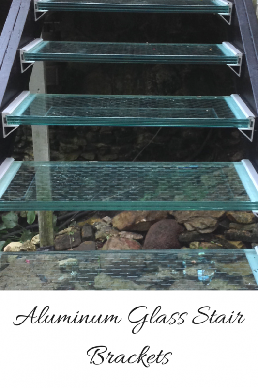 Aluminum Glass Stair Brackets