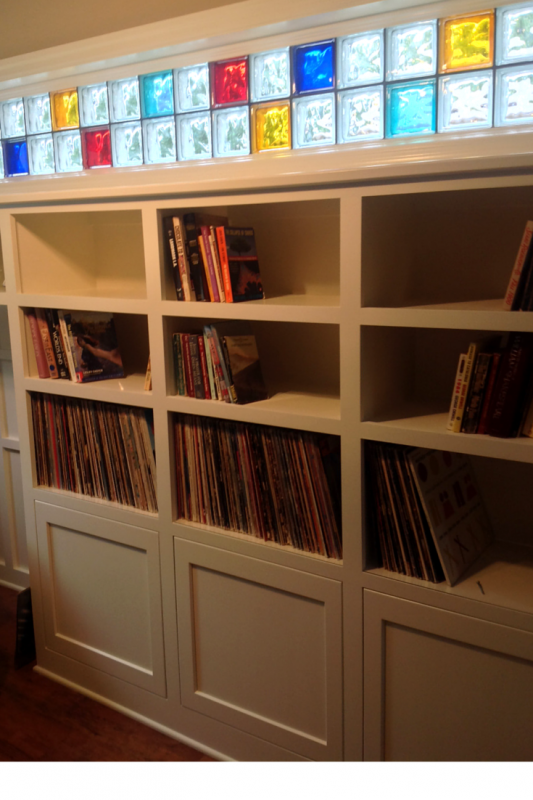 Custom cabinetry in an Office Studio space