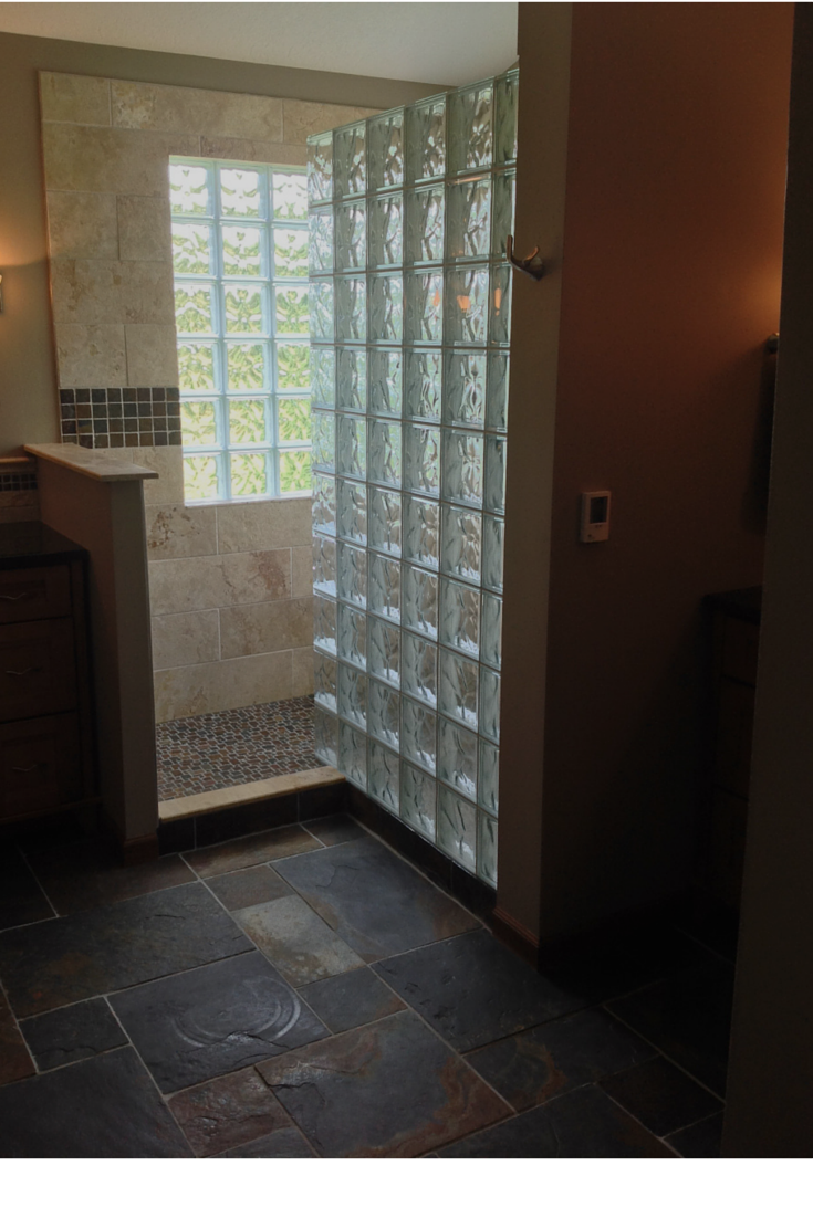 Natural products and abundant light highlight a Westerville Ohio bathroom remodeling project