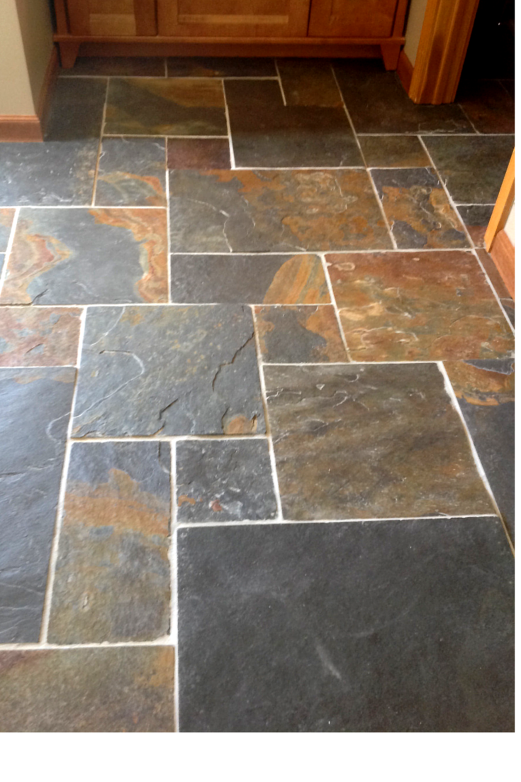 Natural products and abundant light highlight a for Slate floor patterns