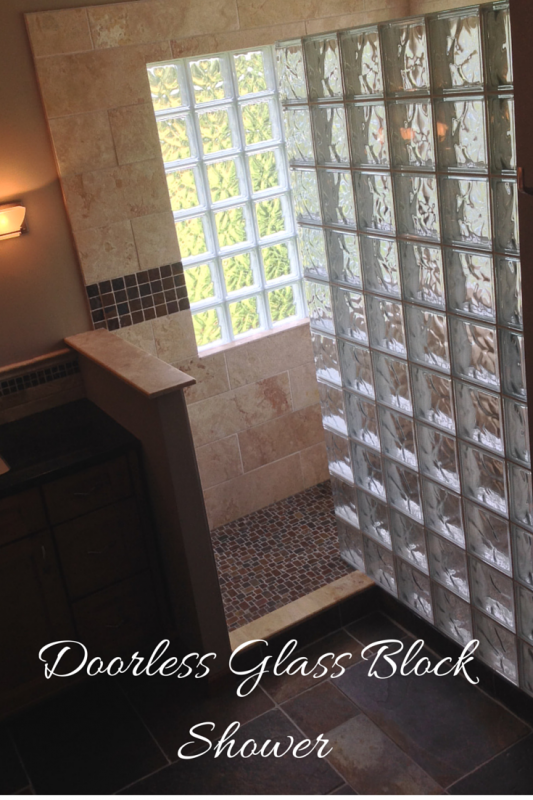 Walk in glass block shower columbus
