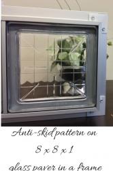 Anti skid pattern 8 x 8 x 1 glass  paver