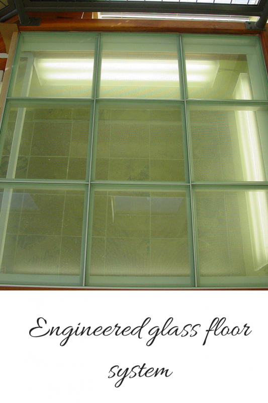 Engineered glass floor system