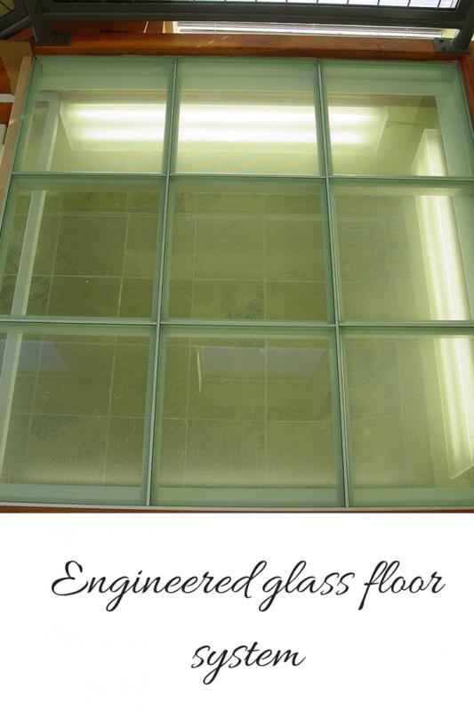 Engineered glass floor system