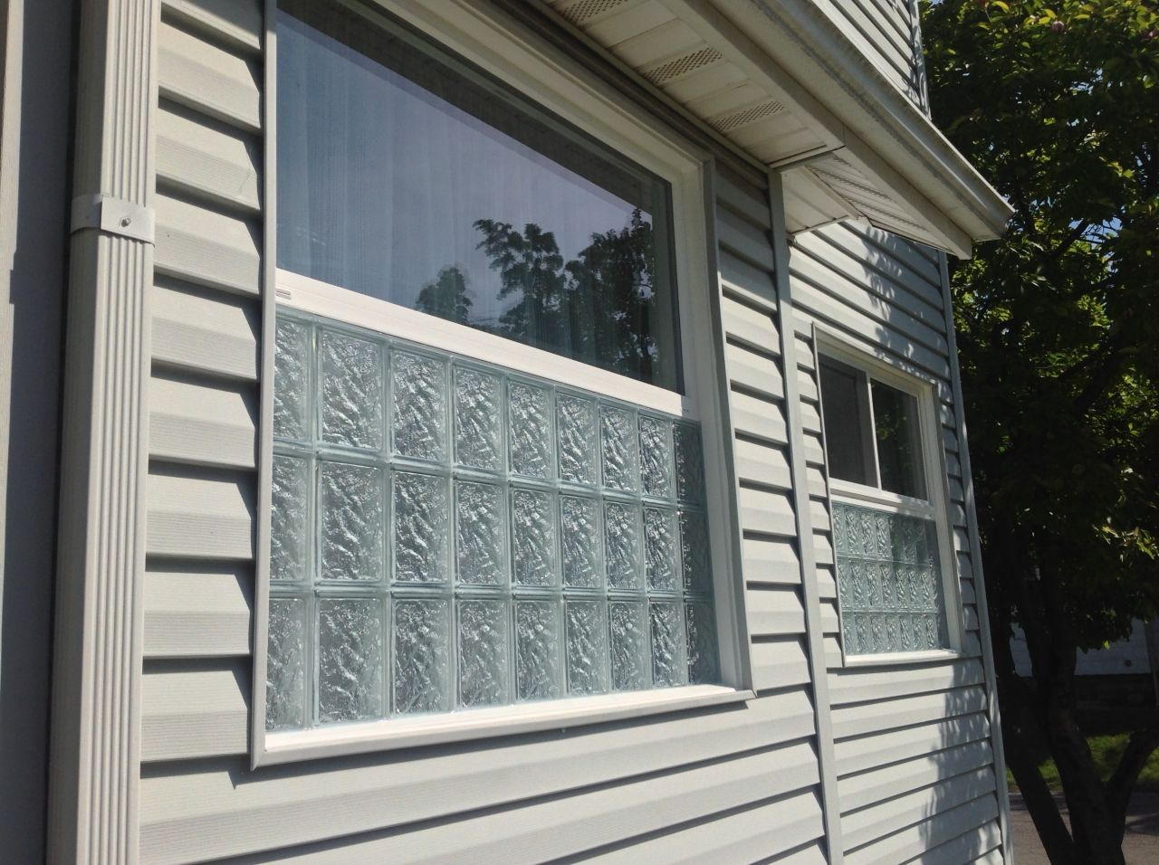 The best of both worlds glass block and vinyl Plastic glass block windows