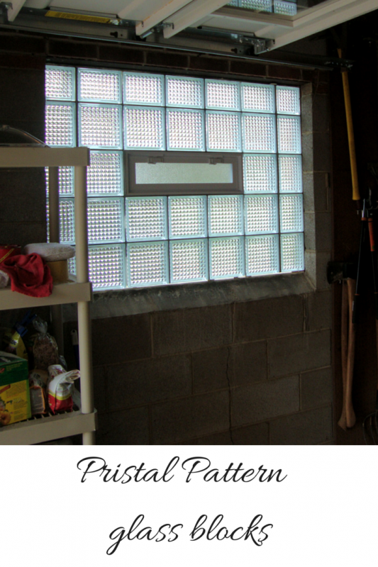 Pristal pattern glass block in a garage window