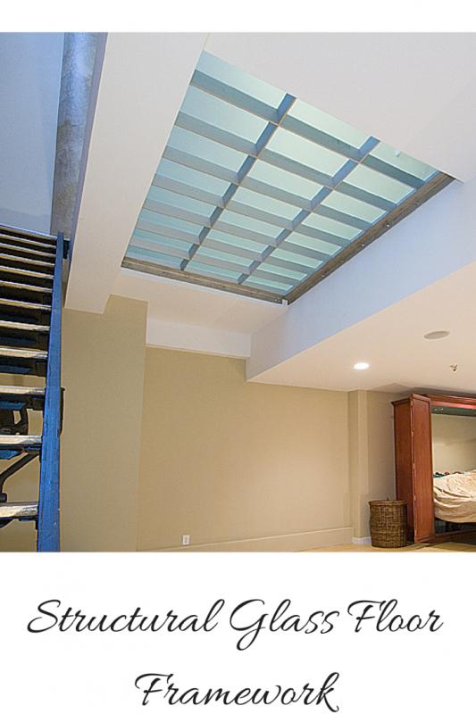 Stuctural glass floor framework