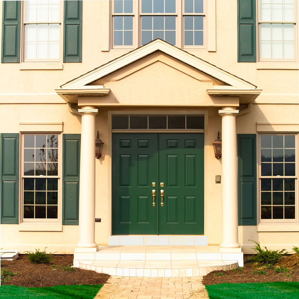 Green Front Doors: Using Color: What Does Your Front Door Say About You