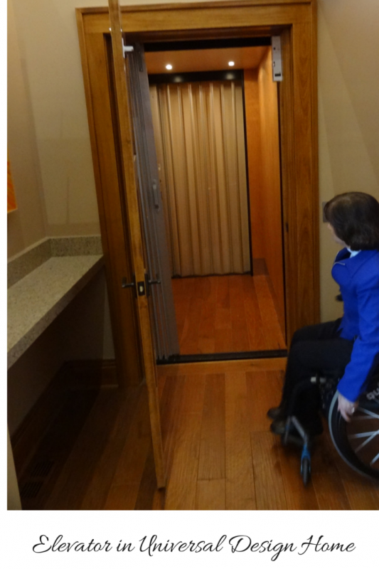 In home elevator for universal design home