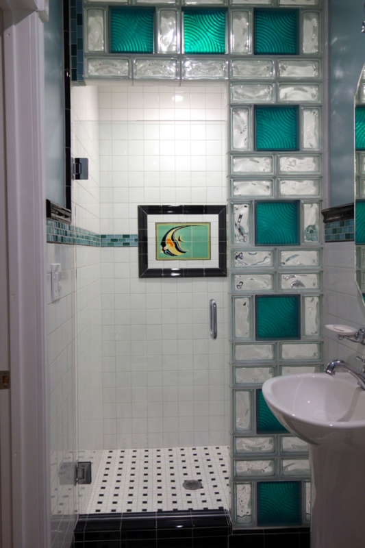 Multiple glass block patterns and colors for a modern look