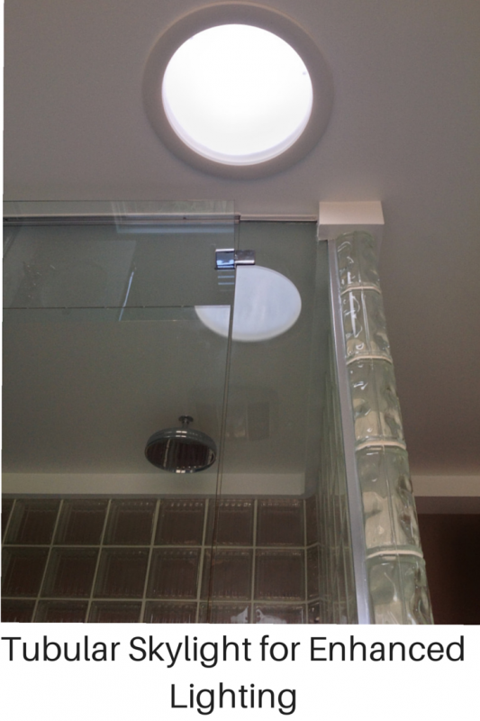 tubular skylight for day and evening lighting