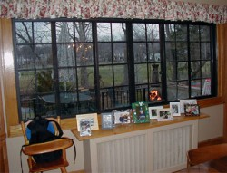 Completed installation after an interior storm window was used