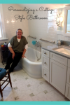 Personalizing a Cottage Style Bathroom in South Euclid Ohio